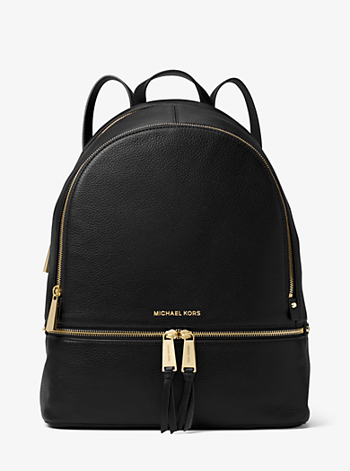 Rhea Large Leather Backpack by Michael Kors