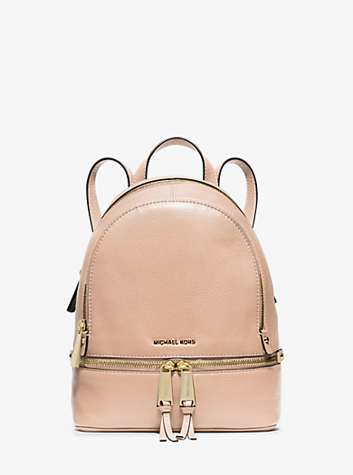 Rhea Extra-Small Leather Backpack by Michael Kors