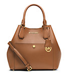 Greenwich Large Saffiano Leather Satchel