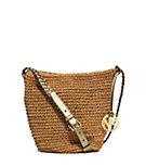 Lola Medium Raffia Messenger