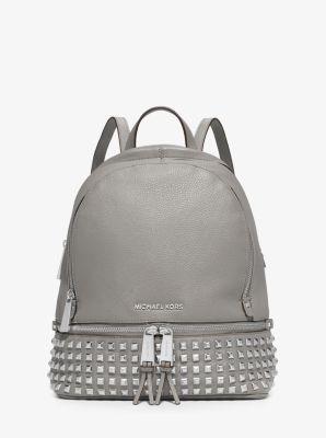 마이클 마이클 코어스 백팩 Michael Michael Kors Rhea Medium Studded Pebbled Leather Backpack