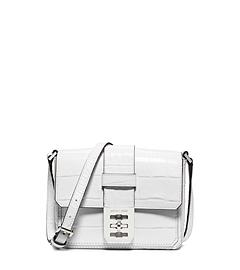 Mila Small Embossed-Leather Messenger by Michael K
