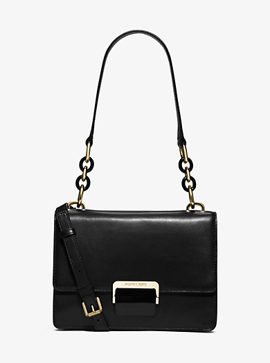 Cynthia Small Leather Shoulder Bag by Michael Kors