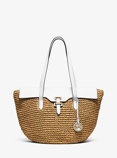 Naomi Large Straw Tote  by Michael Kors