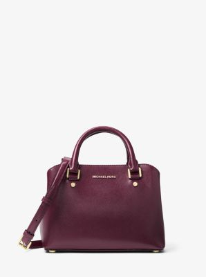 Savannah Small Patent Saffiano Leather Satchel by Michael Kors