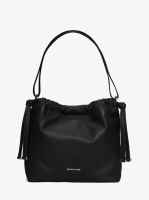 Angelina Large Leather Shoulder Bag by Michael Kors