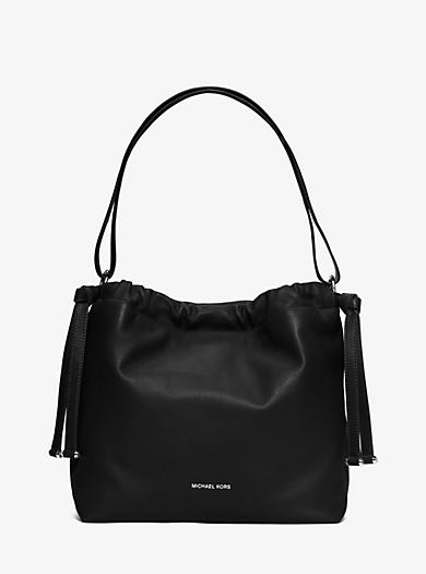 Angelina Large Leather Shoulder Bag by Michael Kors