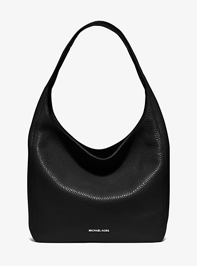 Lena Large Leather Shoulder Bag by Michael Kors