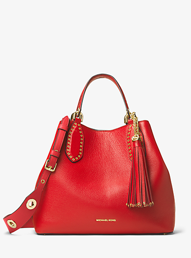 Brooklyn Large Leather Shoulder Bag by Michael Kors