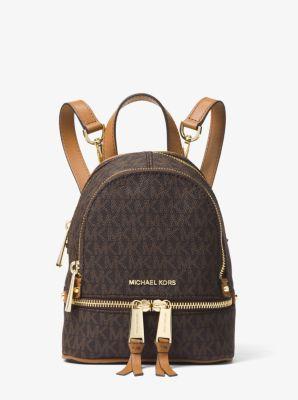 마이클 마이클 코어스 백팩 Michael Michael Kors Rhea Mini Logo Backpack,BROWN