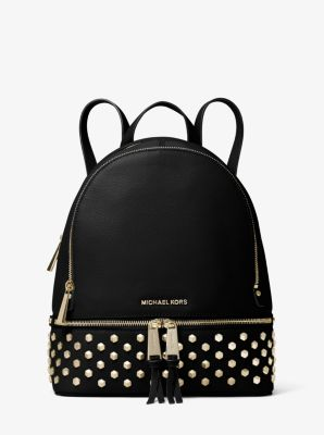 Rhea Medium Studded Leather Backpack by Michael Kors