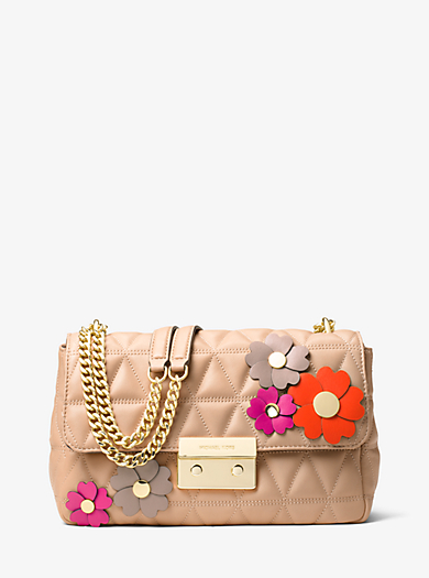 Schultertasche Sloan Large mit Blumenapplikationen by Michael Kors
