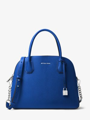 Mercer Large Leather Dome Satchel by Michael Kors