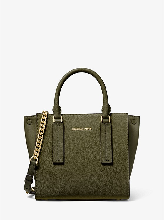 Alessa Small Pebbled Leather Satchel | Michael Kors