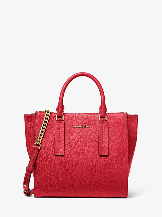 Alessa Medium Pebbled Leather Satchel | Michael Kors