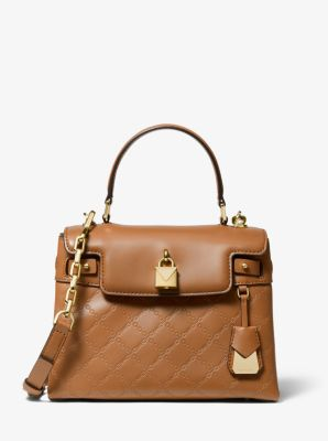 마이클 마이클 코어스 Michael Michael Kors Gramercy Medium Chain-Embossed Leather Satchel