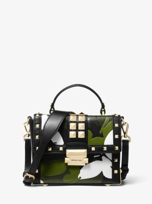 마이클 마이클 코어스 Michael Michael Kors Jayne Small Butterfly Camo Trunk Bag,BLACK COMBO