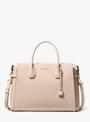 마이클 마이클 코어스 Michael Michael Kors Mercer Large Pebbled Leather Belted Satchel
