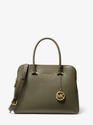 마이클 마이클 코어스 Michael Michael Kors Houston Medium Crossgrain Leather Satchel