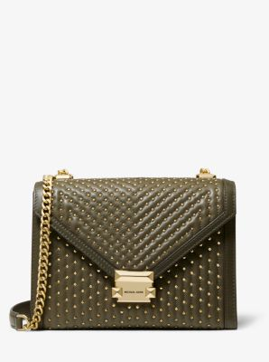 마이클 마이클 코어스 Michael Michael Kors Whitney Large Studded Leather Convertible Shoulder Bag