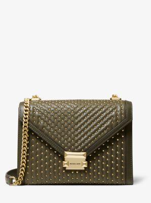 마이클 마이클 코어스 위트니백, 라지 스터드 숄더백 Michael Michael Kors Whitney Large Studded Leather Convertible Shoulder Bag