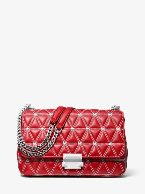 마이클 마이클 코어스 Michael Michael Kors Sloan Large Quilted Leather Shoulder Bag