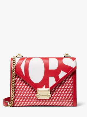 마이클 마이클 코어스 Michael Michael Kors Whitney Large Graphic Logo Convertible Shoulder Bag