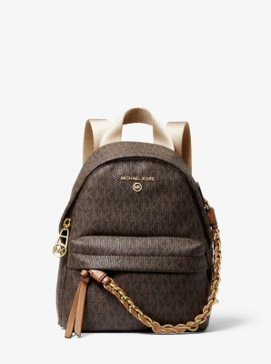 마이클 마이클 코어스 슬레이터 백팩 스몰 Michael Michael Kors Slater Extra-Small Logo Convertible Backpack,BRN/ACORN