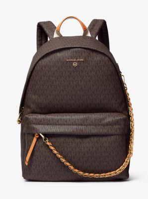 마이클 마이클 코어스 슬레이터 백팩 라지 Michael Michael Kors Slater Large Logo Backpack,BRN/ACORN