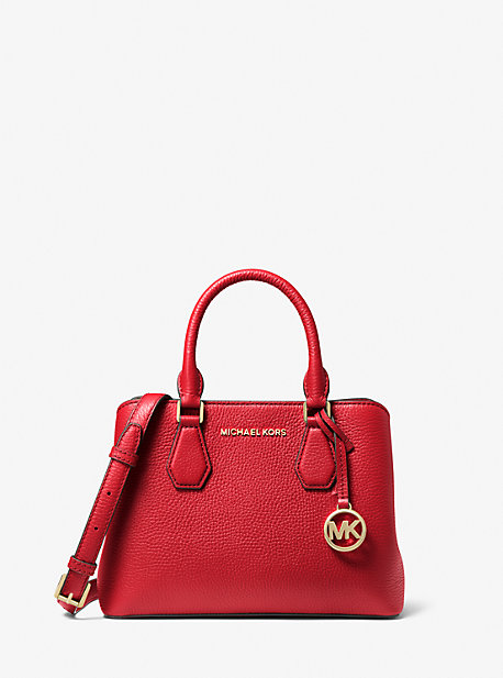 Camille Small Pebbled Leather Satchel | Michael Kors