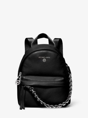 마이클 마이클 코어스 슬레이터 백팩 스몰 Michael Michael Kors Slater Extra-Small Pebbled Leather Convertible Backpack,BLACK