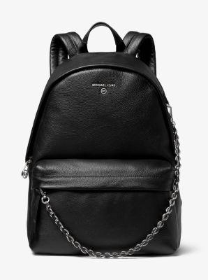 마이클 마이클 코어스 슬레이터 백팩 라지 Michael Michael Kors Slater Large Pebbled Leather Backpack,BLACK