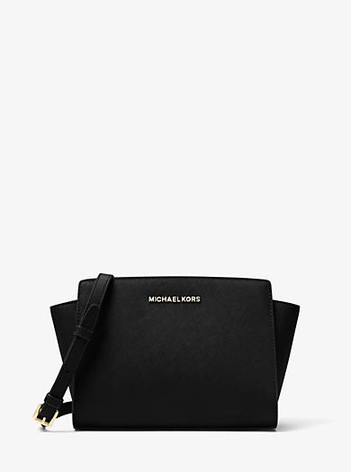 Selma Medium Saffiano Leather Messenger by Michael Kors