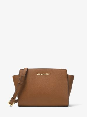 Selma Medium Saffiano Leather Messenger by Michael Kors