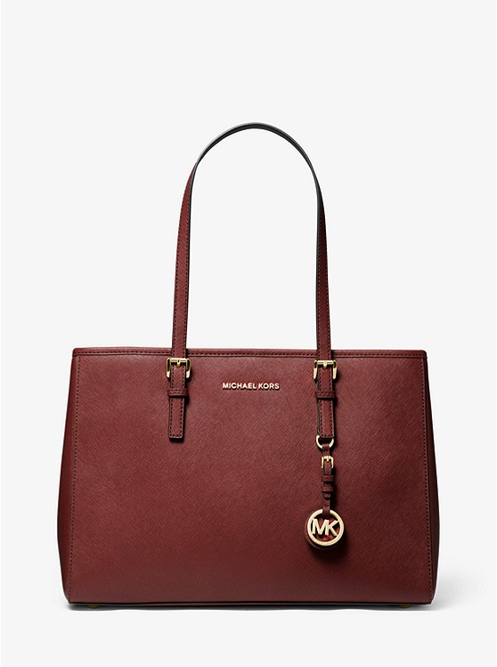 Jet Set Saffiano Leather Tote Bag | Michael Kors