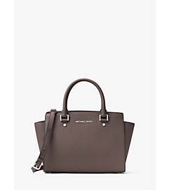 Selma Medium Saffiano Leather Satchel by Michael Kors
