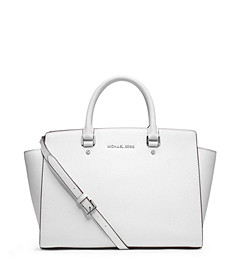 Selma Medium Saffiano Leather Satchel