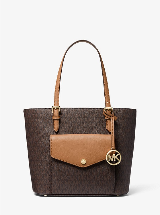 Jet Set Medium Logo Pocket Tote Bag | Michael Kors
