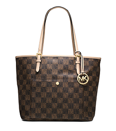 Jet Set Checkerboard Large Tote