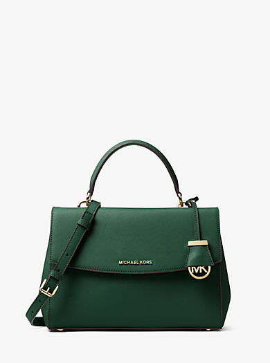 Ava Medium Saffiano Leather Satchel by Michael Kors