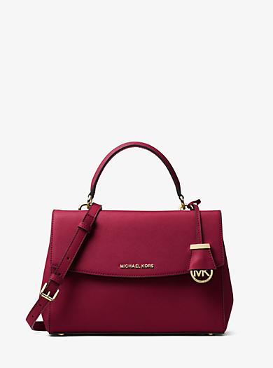Ava Medium Saffiano Leather Satchel by Michael Kors