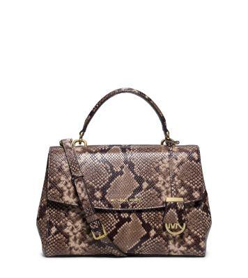 $200.48 MICHAEL MICHAEL KORS  Ava Medium Embossed-Leather Satchel