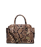 Harper Medium Embossed-Leather Satchel