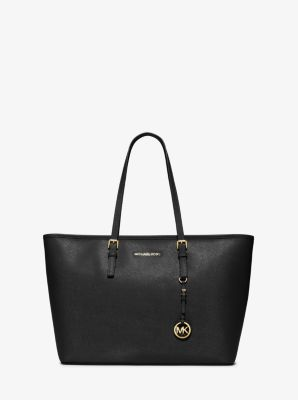 마이클 마이클 코어스 Michael Michael Kors Jet Set Medium Saffiano Leather Top-Zip Tote Bag,ADMIRAL
