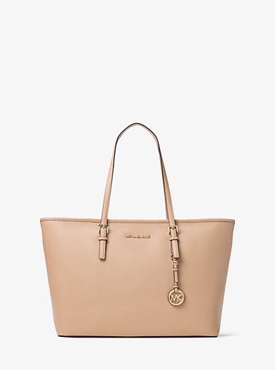 Borsa tote Jet Set Travel in pelle Saffiano con cerniera superiore by Michael Kors