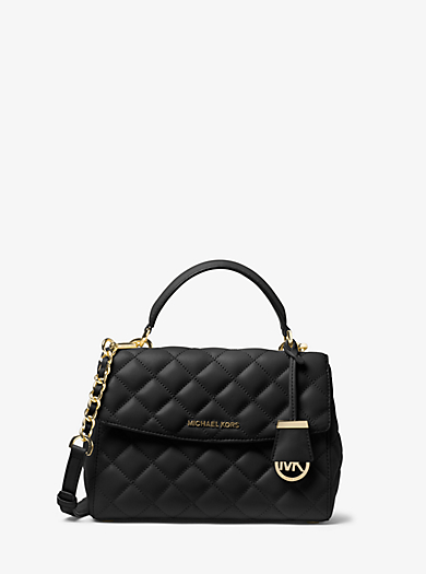 Ava Small Quilted-Leather Satchel by Michael Kors