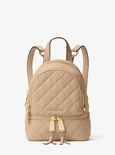 Rhea Extra-Small Quilted-Leather Backpack by Michael Kors