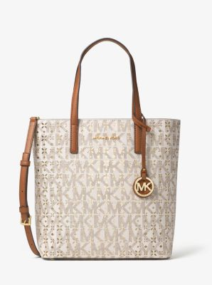 Hayley Medium Perforated Logo Tote by Michael Kors
