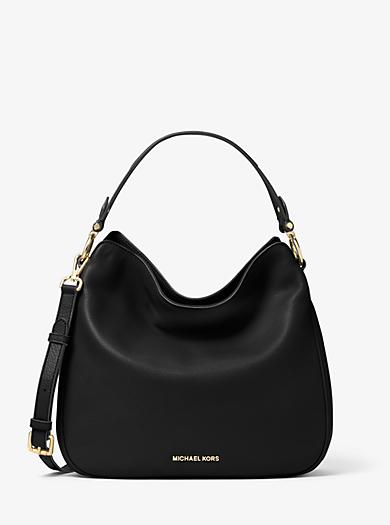 Heidi Medium Leather Shoulder Bag by Michael Kors