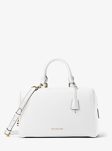 Kirby Large Leather Satchel by Michael Kors